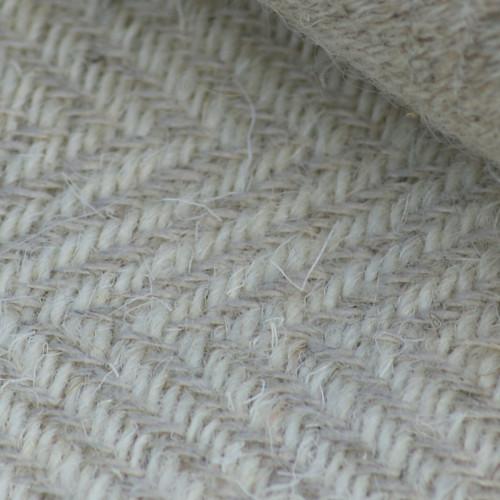 schwerer Wolle-Leinen-Köper natur