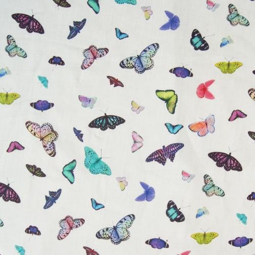 Schmetterlinge auf Bio-Leinen
