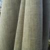 Bio-Chambray Leinen mit Wolle grün natur