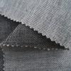 Bio-Köper Leinen mit Wolle schwarz natur