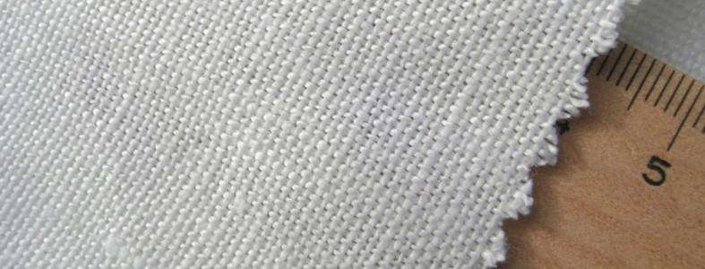 mittelschweres Bio-Leinwandgewebe weiß 100% Leinen kbA