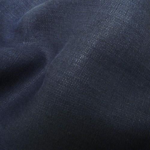 mittelschweres Leinwandgewebe dunkelblau , 100% Bio Leinen