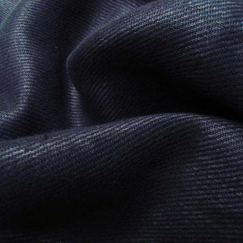 mittelschwerer Bio Leinenköper dunkelblau