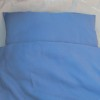 Bio-Leinenkopfkisenbezug blau